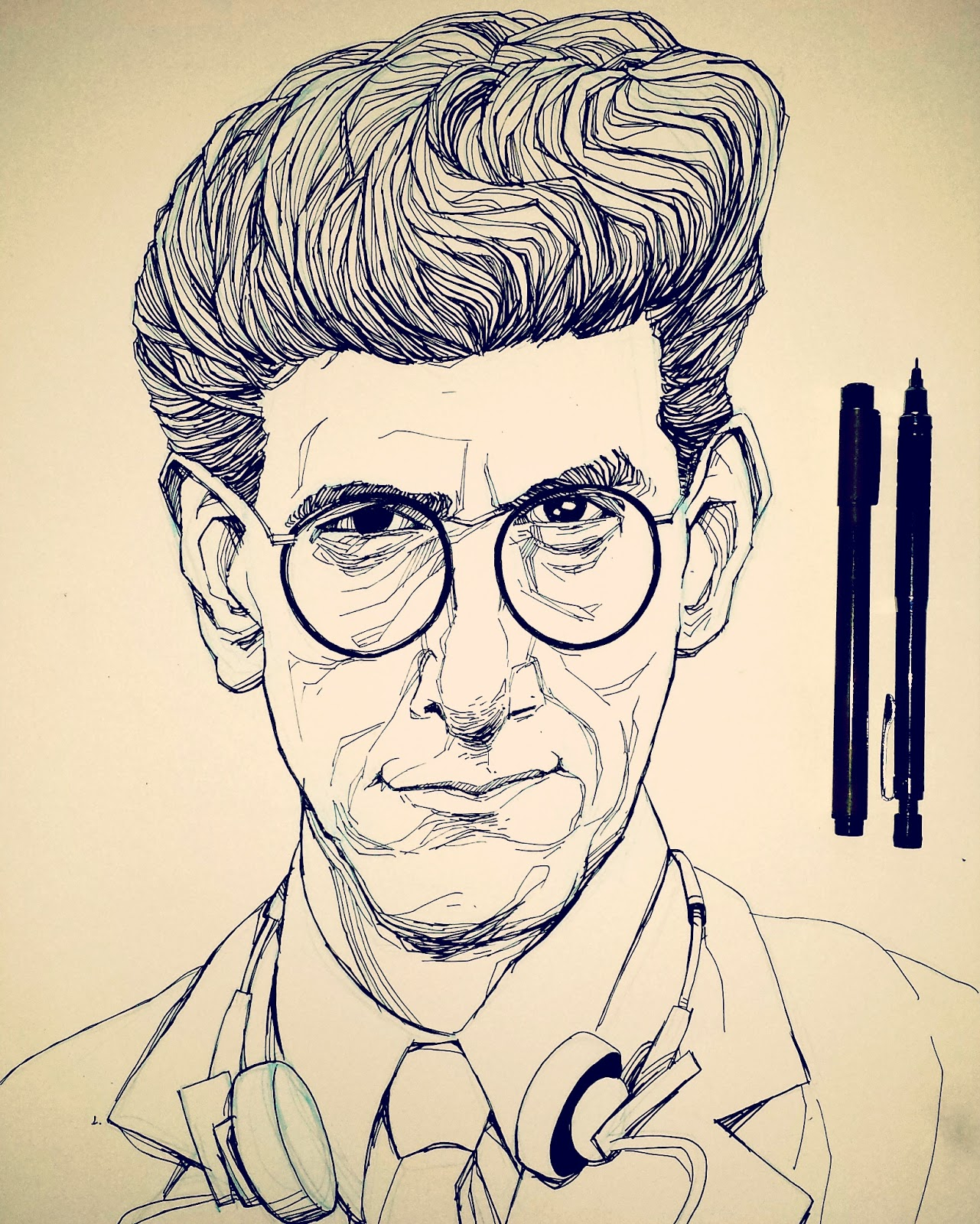 Egon Spengler Inktober Drawing