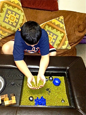 Sensory table for students