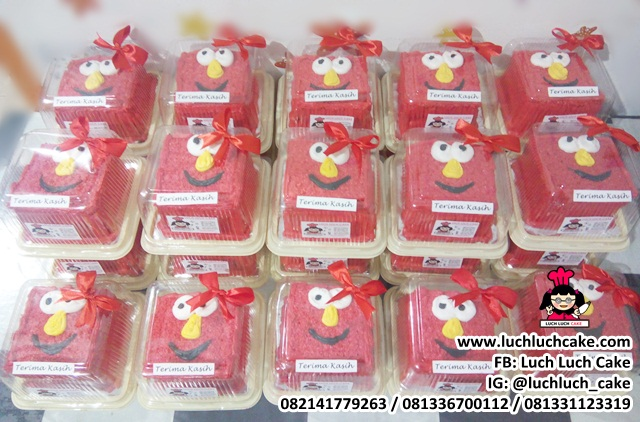 Mini Cake 10cm Hampers Khitanan Tema Elmo