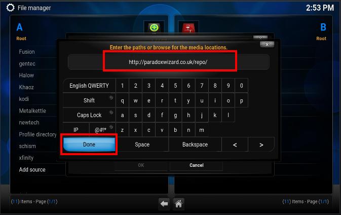 Install Paradox Build On Kodi