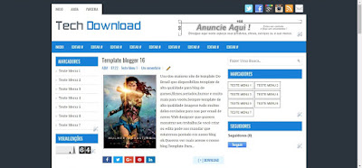 Template 3 colunas Teck Download Blogger