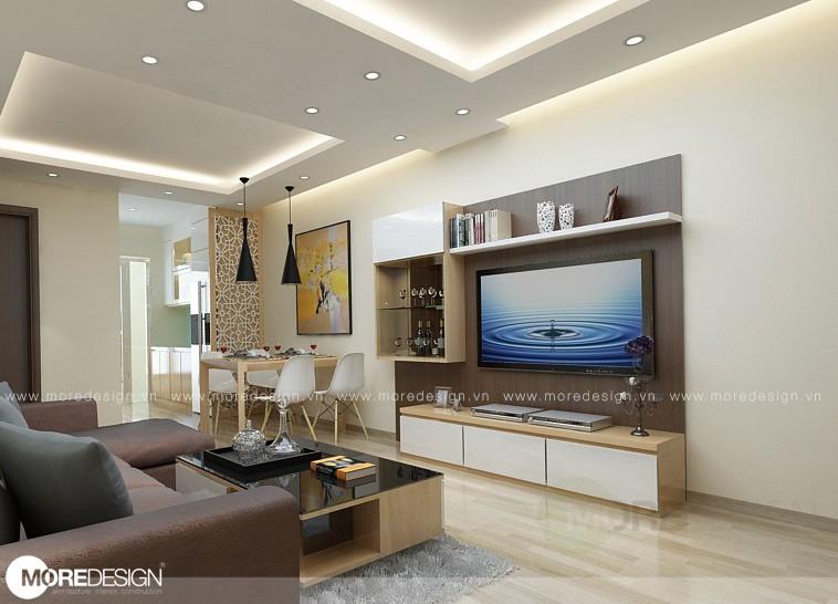 Thiết kế căn hộ chung cư 68m2 Sunview Town, Thủ đức