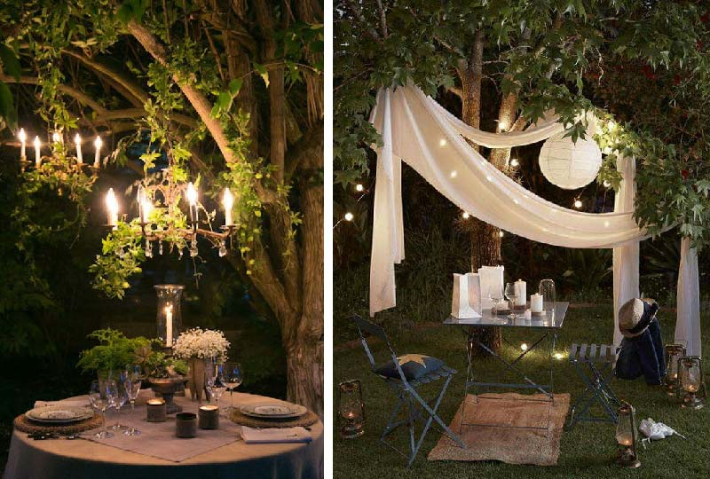 romantica tavola per due