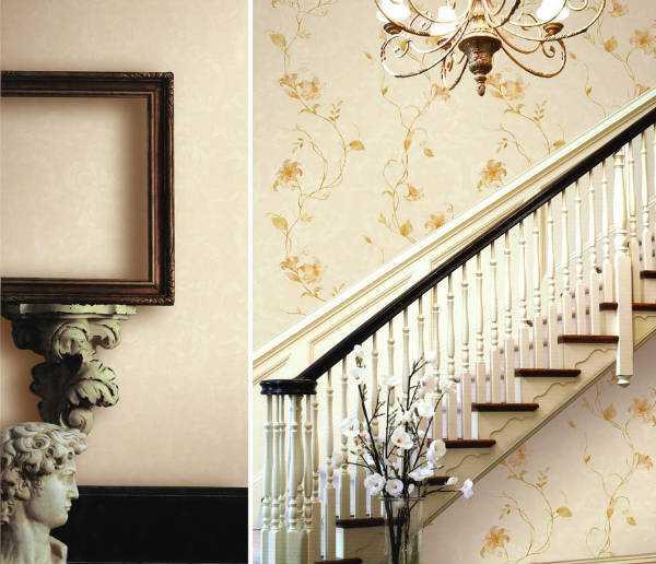 Trang trí cầu thang với giấy dán tường