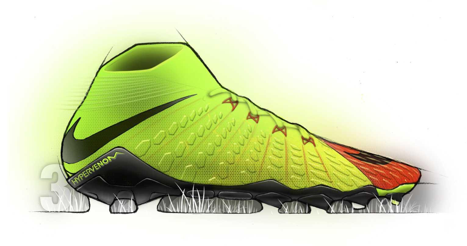 Nike Hypervenom 3 Sketchbook + Designer Talk - Footy Headlines