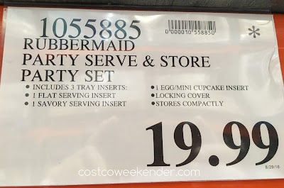 Deal for the Rubbermaid The Ultimate Party Serving Kit at Costco