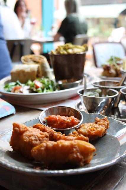 The Amritsari fish fry dish with chutney accompaniment
