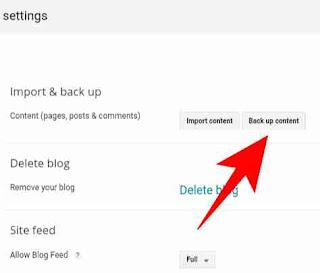 Blog backup kaise banaye 3