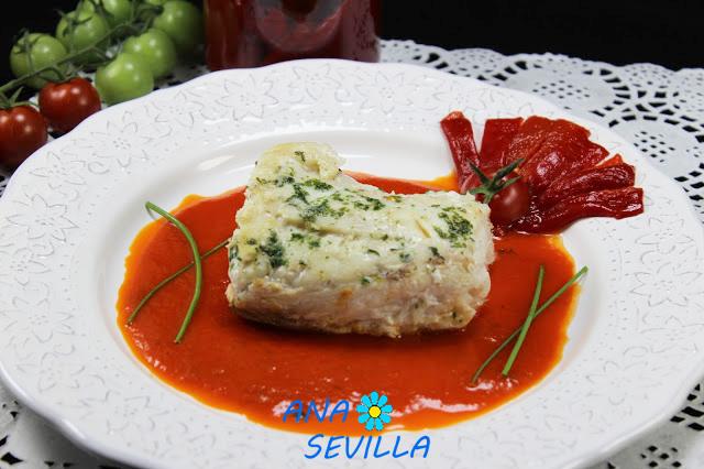 Merluza en salsa de piquillos olla GM Ana Sevilla