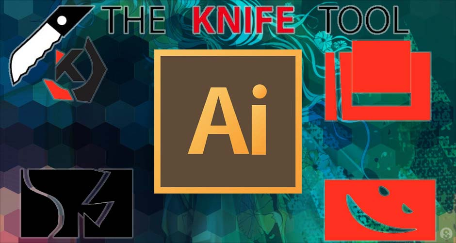 how to use knife tool in illustrator