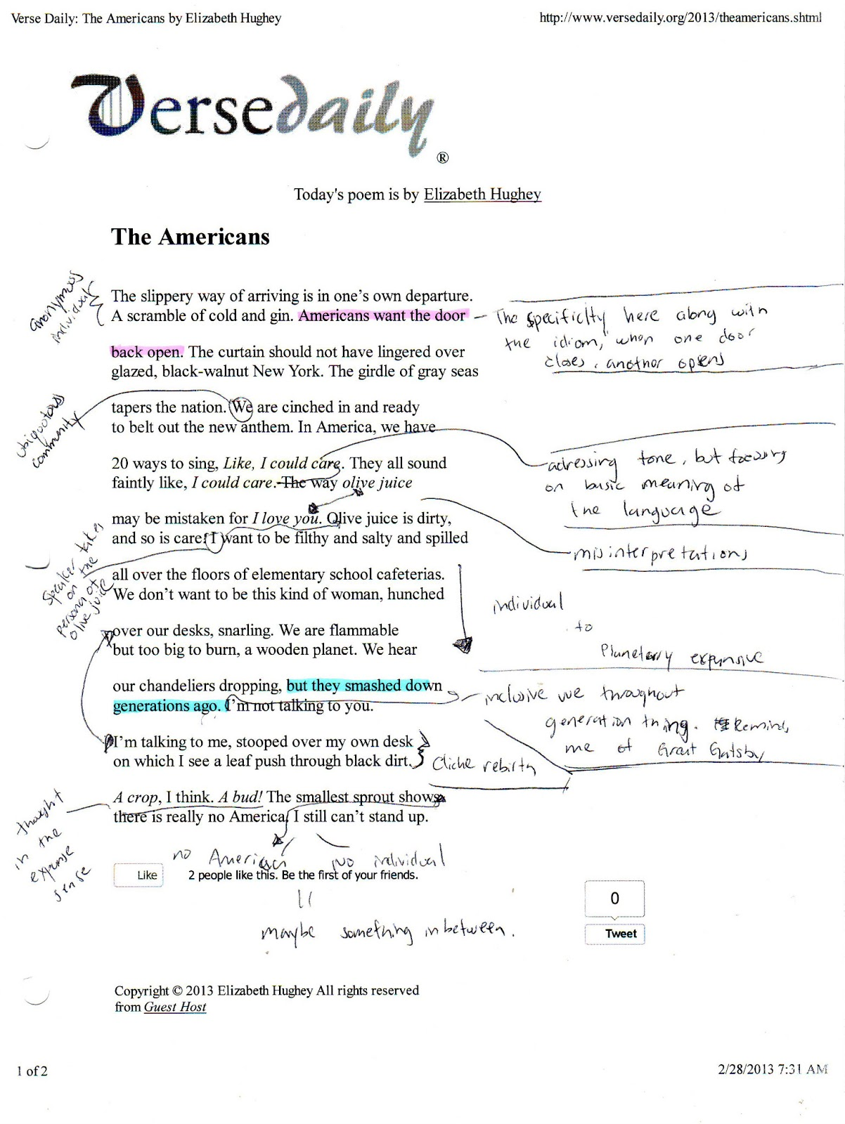 An analysis of the six stanzas in the poem morning song by sylvia plath