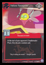 My Little Pony Yellow Parasprite Premiere CCG Card