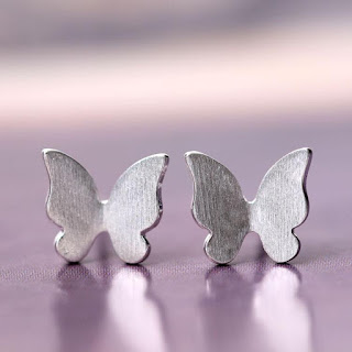 925 Sterling Silver Butterfly Earrings