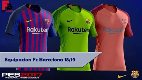 3a7609ed9c3 PES 2017 Barcelona 2018-19 New Kits by Perez Pozo