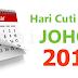 Hari Cuti Umum Johor Tahun 2018