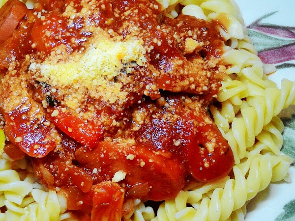 Resepi : Spiral Pasta with Bolognese Sauce