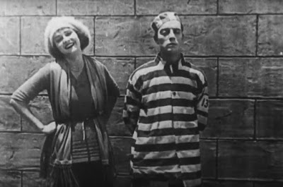 "Sybil Seely and Buster Keaton in ""Convict 13"" (1920)"