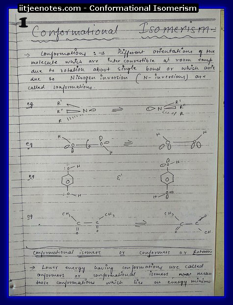 Conformational Isomerism1
