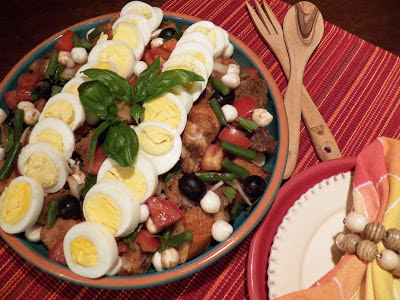 Egg Panzanella with Balsamic Dressing