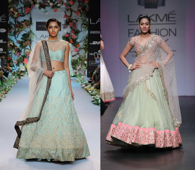 Pastel Colored Lehenga By Anushree Reddy