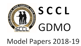 SCCL General Duty Medical Officer (GDMO) Exam Model Papers, Syllabus 2018
