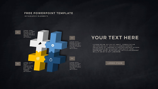 Free PowerPoint Template with 3D Puzzle and Sign Infographic Elements Slide 6
