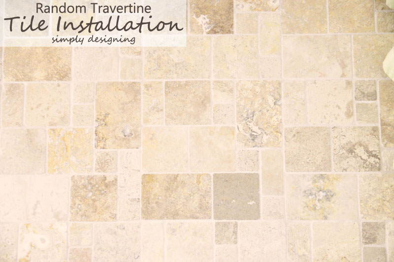 Travertine Tile in a Random Pattern | a complete tutorial for how to demo, prep, install concrete backer board and install tile | #diy #bathroom #tile #thetileshop @thetileshop