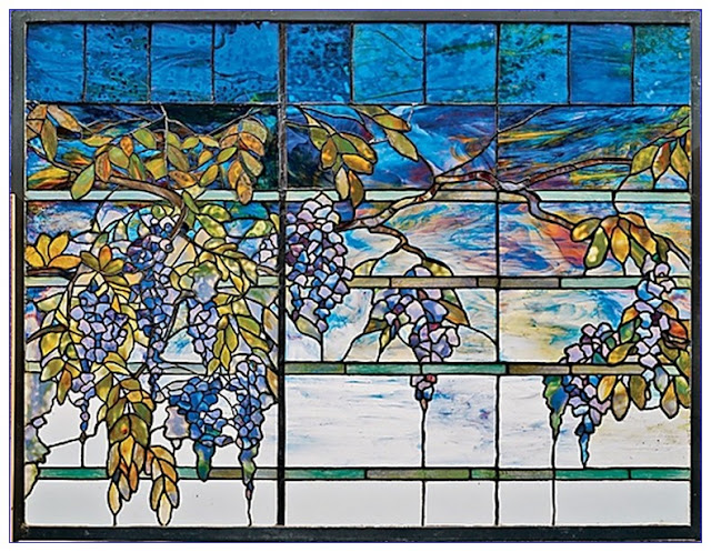 Buy Wisteria Stained GLASS Panels
