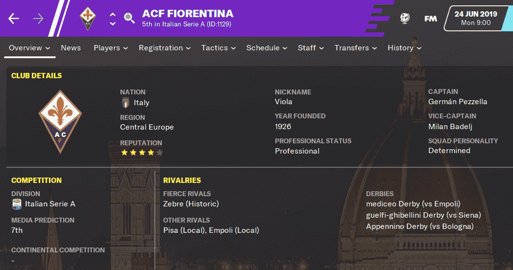 FM20 Team Guide & Tactic - Fiorentina