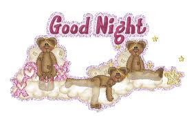 Good NIght wishes with teddy bear