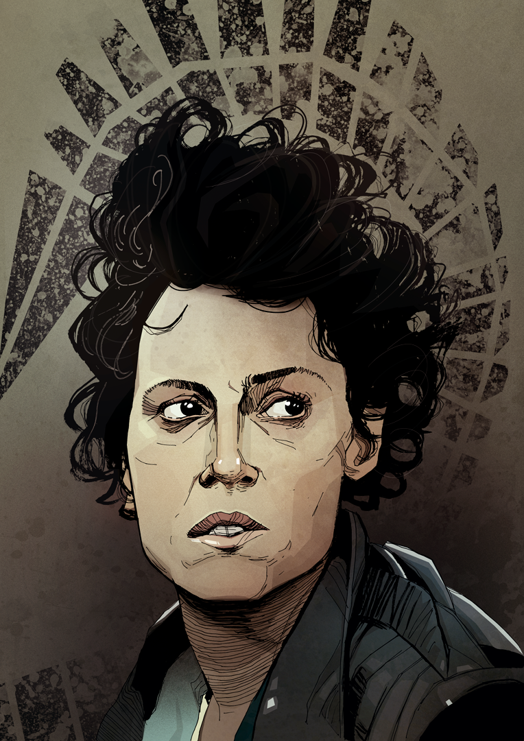 Ellen Ripley Sigourney Weaver James Cameron Aliens Artwork