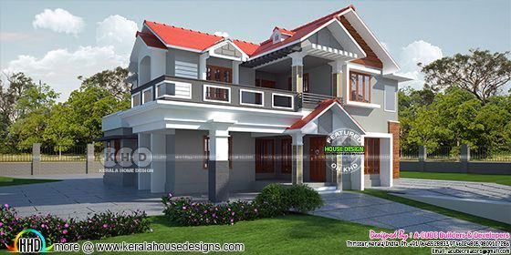 2369 square feet 4 bedroom attached home plan