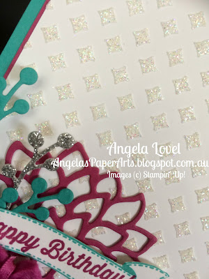 Stampin' Up! Dazzling Birthday Card by Angela Lovel, Angela's PaperArts