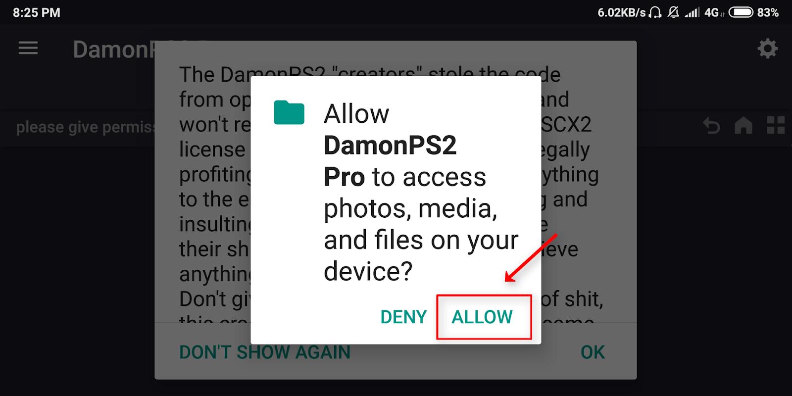 damon ps2 pro please select bios
