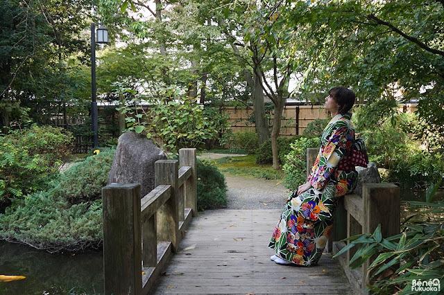 ふくおか着物ウォーク、楽水園、福岡