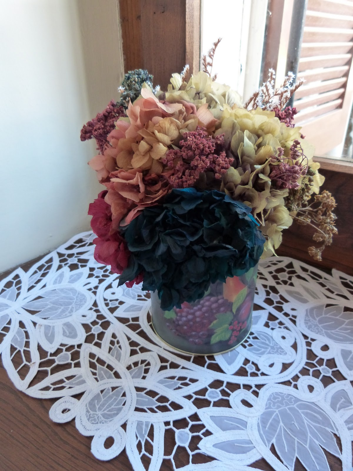 estas son algunas flores que he secado para hacer centros