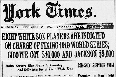 Black Sox matchfixing scandal