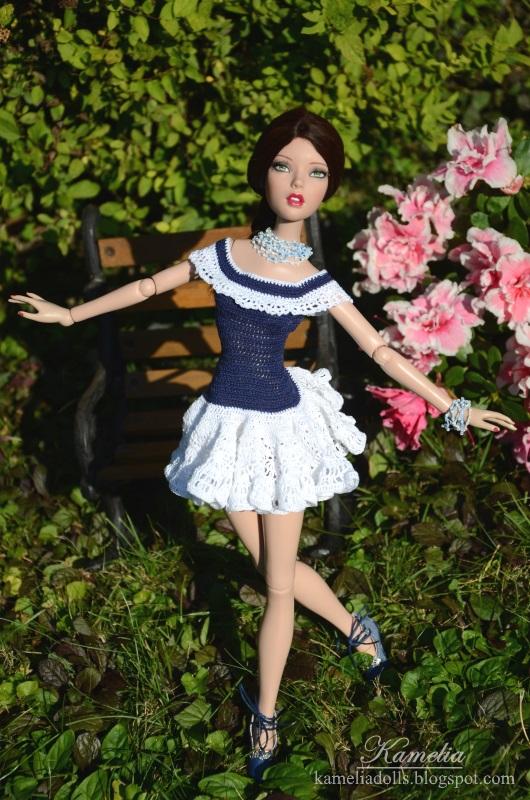 Handmade crochet dress for Tonner doll