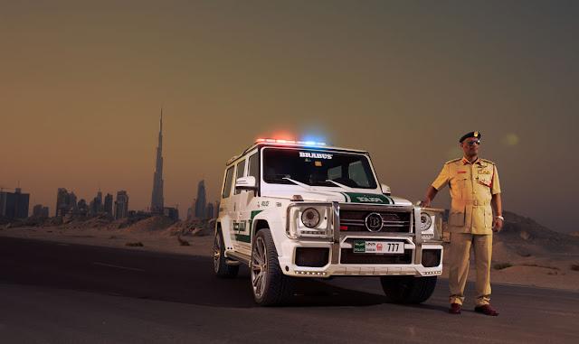 Coches de policía de Dubai - police car - Mercedes Brabus G63