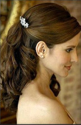 bridal hairstyles half up half down for long hiar with veil half up 2013 for short hair indian