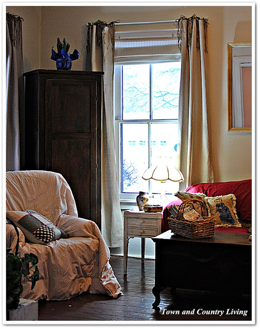 Diy Drop Cloth Curtains Town Amp Country Living