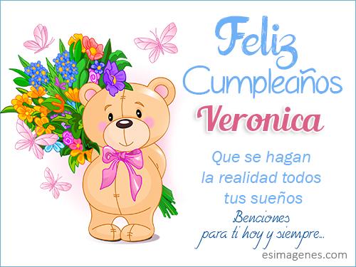 Feliz Cumpleaños Veronica - Imágenes Tarjetas Postales con
