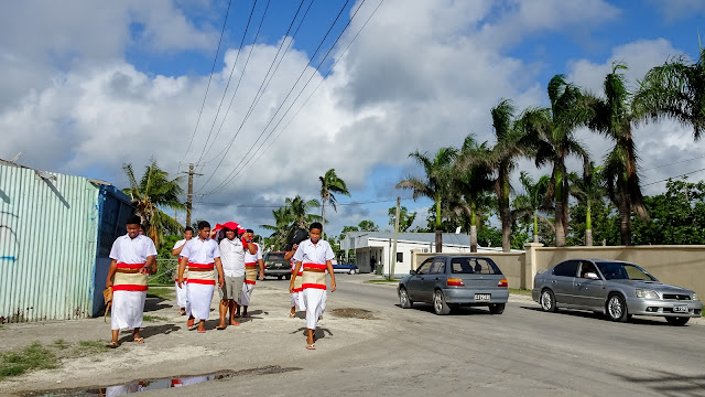 One person always forgets its uniform, even in Tonga