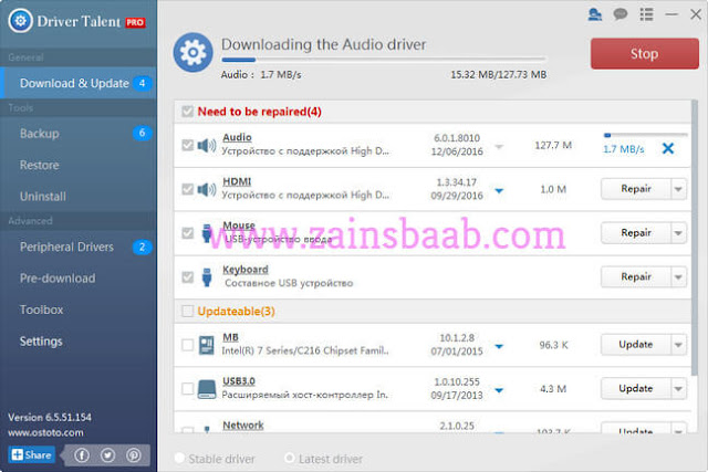 Driver Talent Pro 6.5.60.172 With Crack Latest | ZainsBaba.com