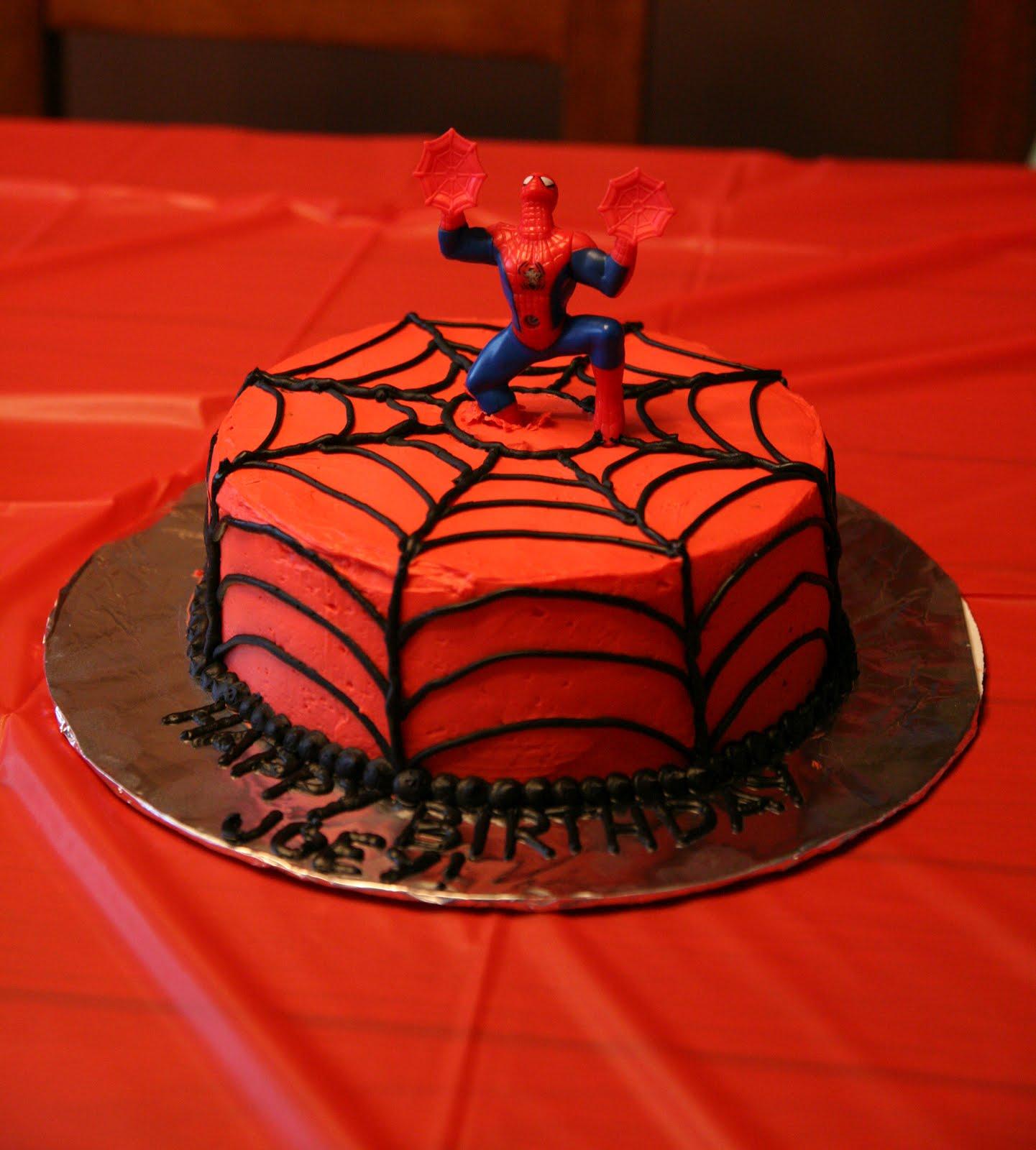 How To Make A Spiderman Birthday Cake Ideas