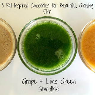 3 Fall-Inspired Smoothies for Glowing Skin | Grape and Lime Green Smoothie