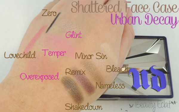 revue avis test urban decay shattered face case swatch