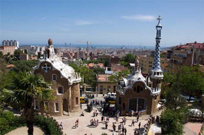 Exciting view of Barcelona