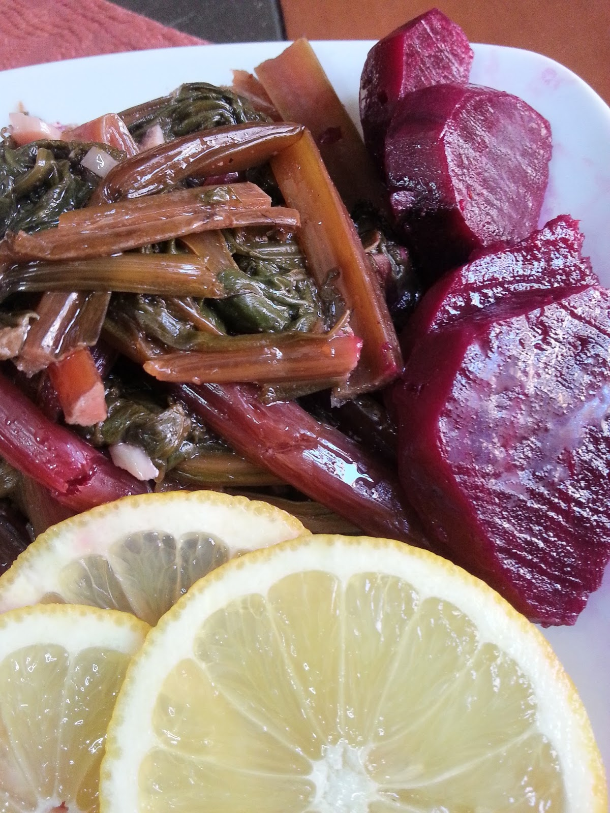 how to cook beet greens garlic