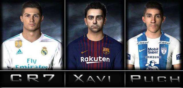 Xavi, CR7 & Puch Face PES 2017